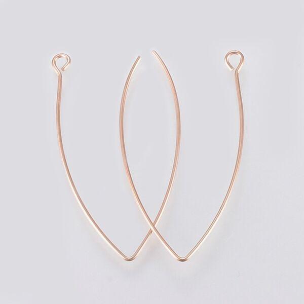 1pár nemesacél rozé arany kampós fülbevalóalap