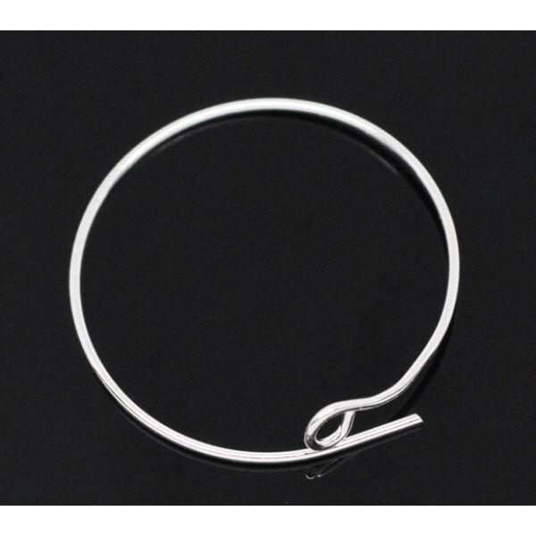 1 pár ezüst színű kör nyitható fülbevalóalap