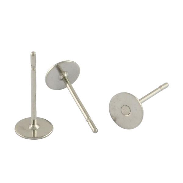 5pár 316os nemesacél bedugós fülbevalóalap (6mm)