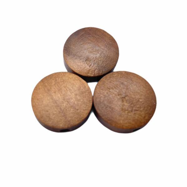 Barna festett fa korong gyöngy (15x4mm)