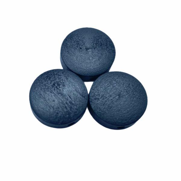 Fekete festett fa korong gyöngy (15x4mm)