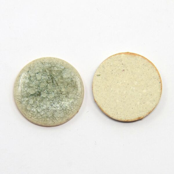 Aquamarine porcelán korong (20mm)