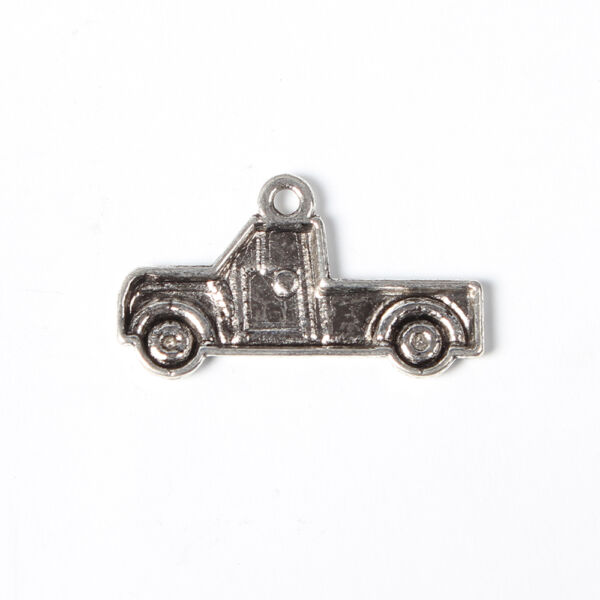 Antikolt ezüst színű teherautó fityegő