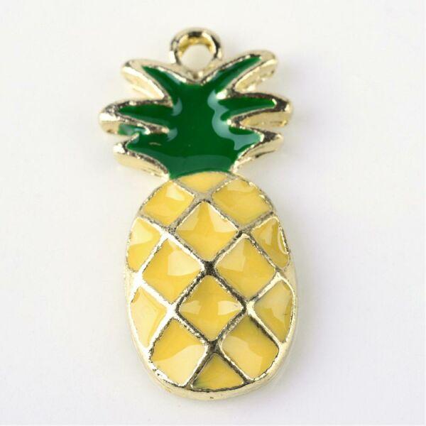 Színes zománcozott ananász fityegő