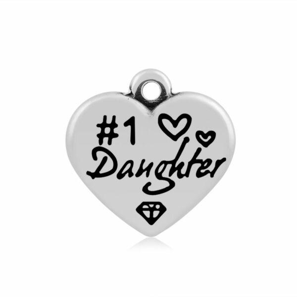 316-os Daughter (lányom) szív fityegő