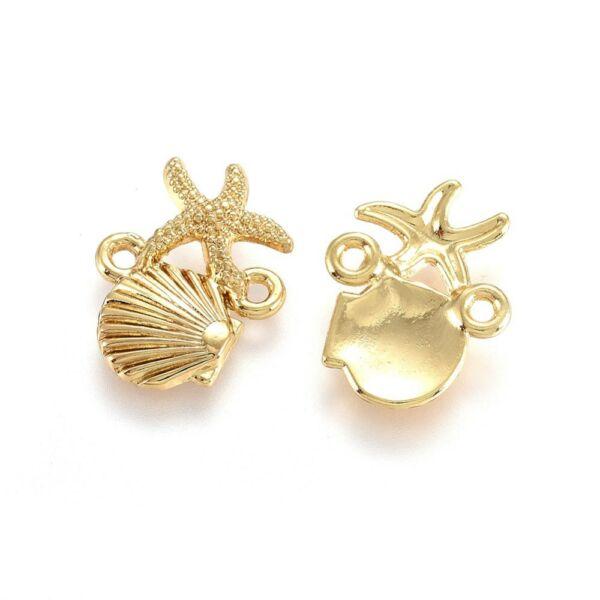 Arany kagyló és tengericsillag fityegő