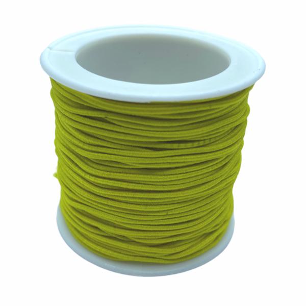 Citromsárga színű kalapgumi/1mm (1m)