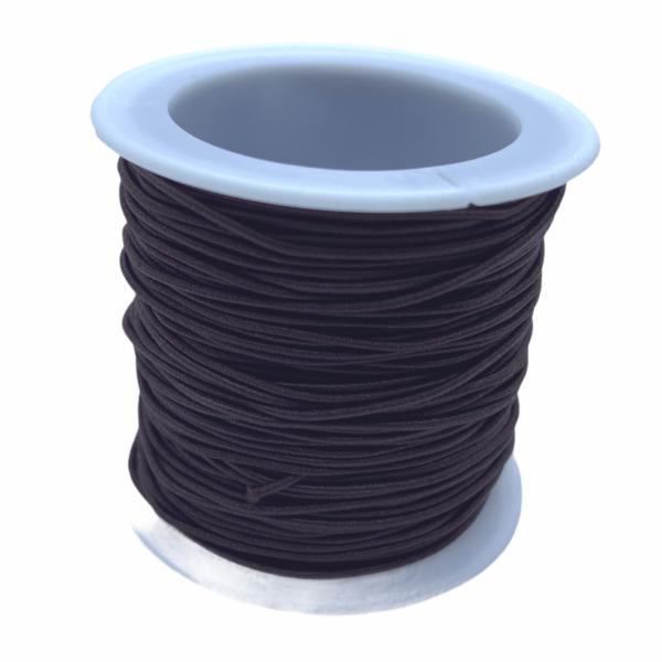 Sötét barna színű kalapgumi/1mm (1m)
