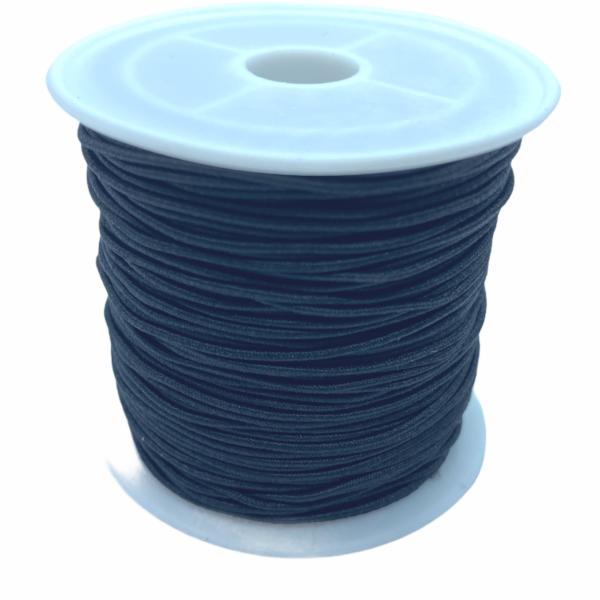Fekete színű kalapgumi/1mm (1m)