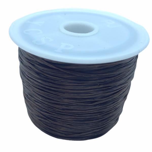 Sötét barna elasztikus damil/0,8mm (1m)