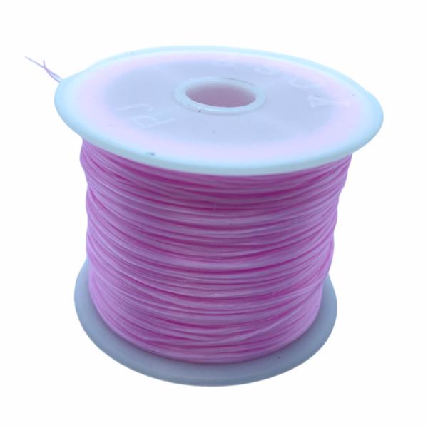 Világos rózsaszín elasztikus damil/0,8mm (1m)