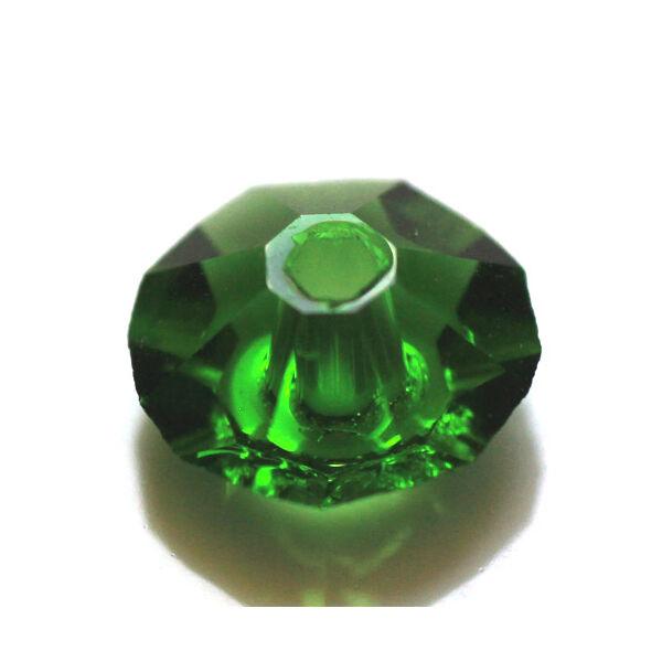 Sötét zöld első osztályú csiszolt üveggyöngy (4x8mm)