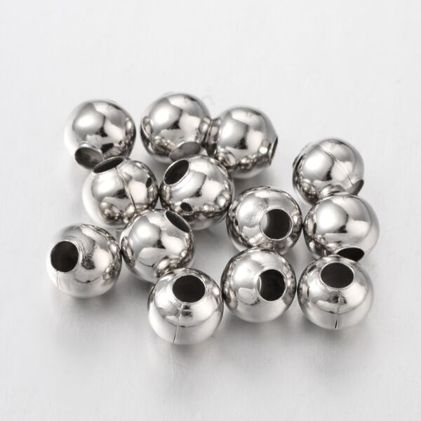 10db Antik ezüst színű golyó alakú gyöngy (8mm)