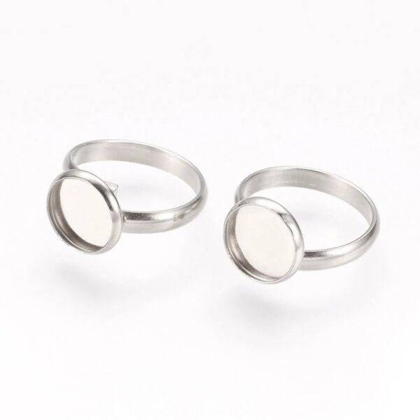 Nemesacél tányéros gyűrűralap (10mm)