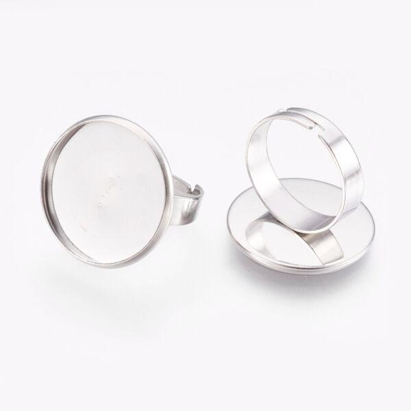 Nemesacél tányéros gyűrűralap (20mm)