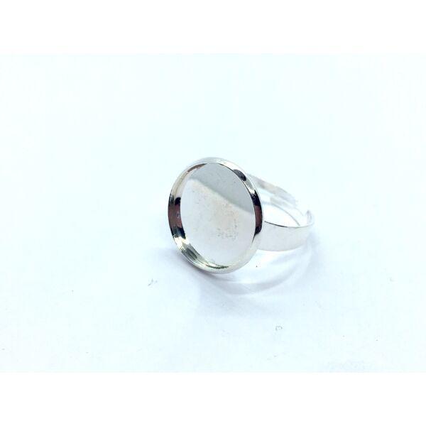 Ezüst színű gyűrűalap (20mm)