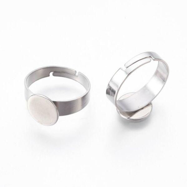 Nemesacél ragasztható gyűrűralap (10mm)
