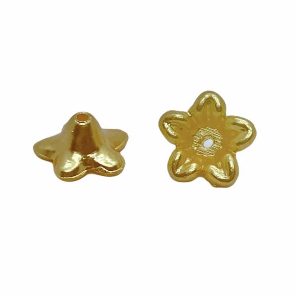 Metál arany színű virág (10X5mm)