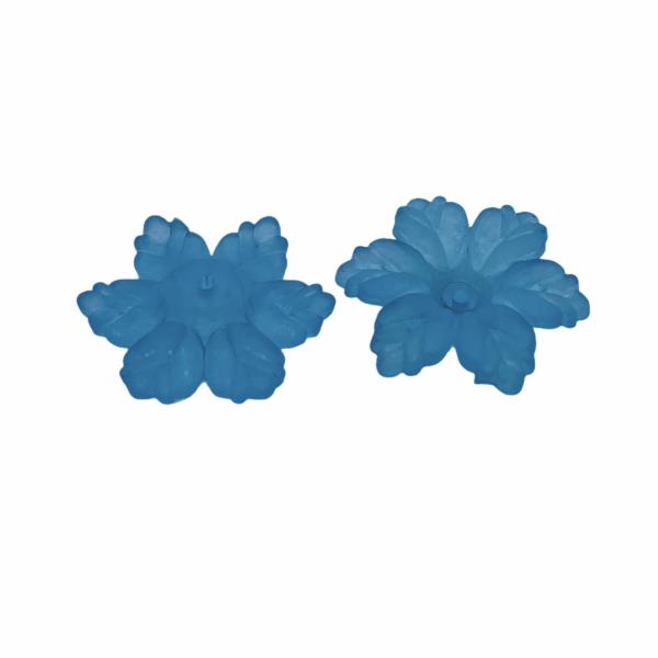 Világos kék virág (21x19x5mm)
