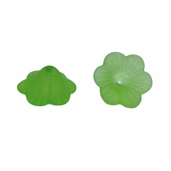 Zöld színű virág (19x21x9mm)
