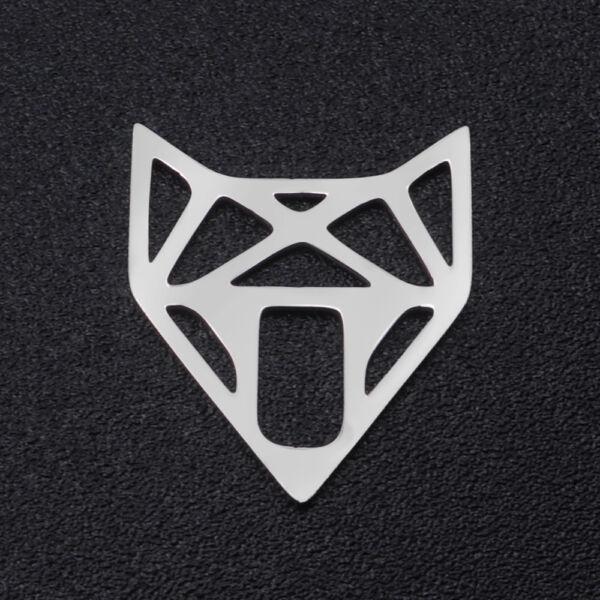 Nemesacél róka alakú kapcsolóelem (14x17mm)