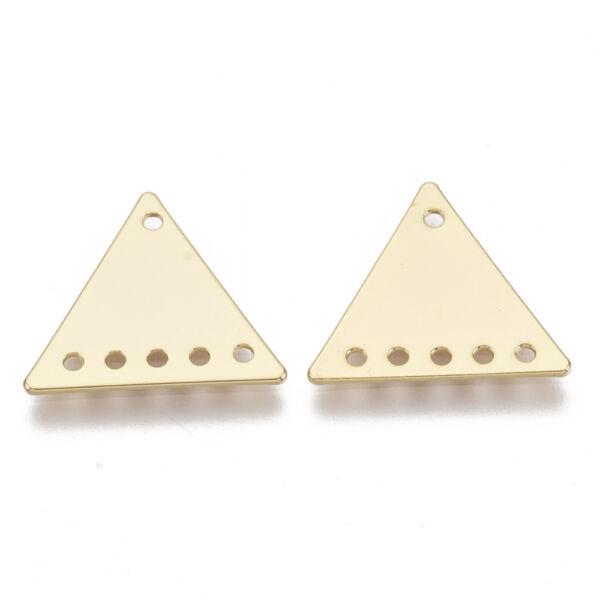 Arany színű háromszög alakú kapcsolóelem 18K arany bevonattal