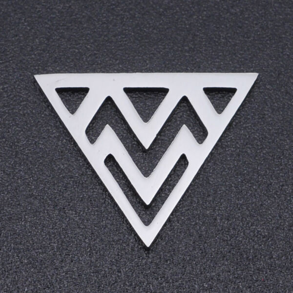 Nemesacél háromszög alakú kapcsolóelem (14x17mm)