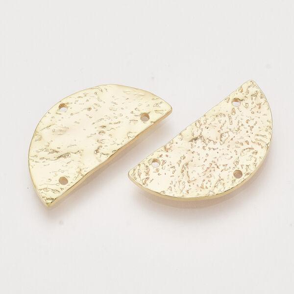 Arany színű félkör alakú kapcsolóelem 18K arany bevonattal