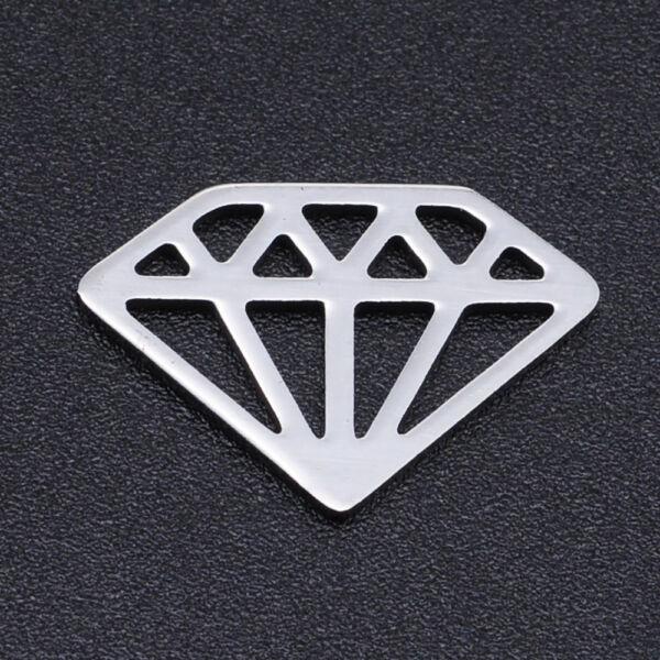Nemesacél gyémánt kapcsolóelem kapcsolóelem (12x18mm)