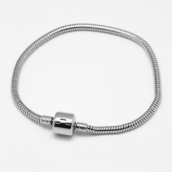 Nemesacél karkötő pandora gyöngyökhöz (18cm)