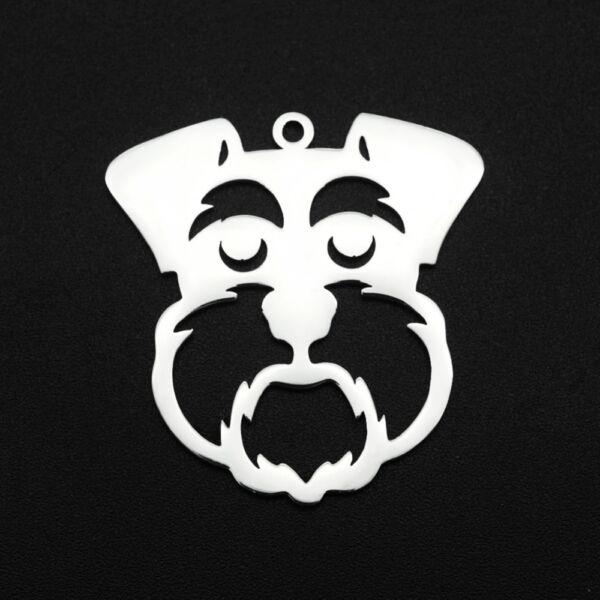 Nemesacél lézervágott skót terrier medál