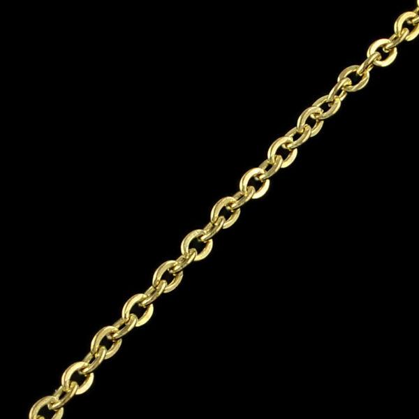 Világos arany színű vékony keresztezett szemű lánc (3,6x2,7mm)