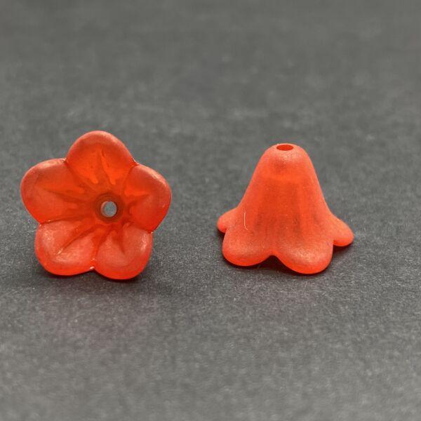 Piros harangvirág (13x10mm)