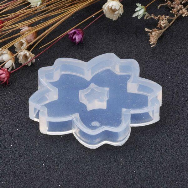 Szilikon virág alakú öntőforma műgyanta öntéshez