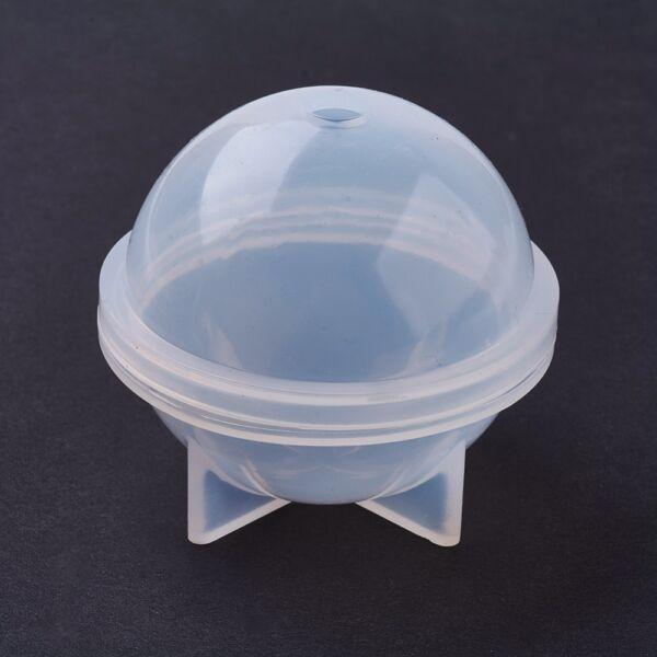 Gömb alakú szilikon öntőforma műgyanta öntéshez (33mm)