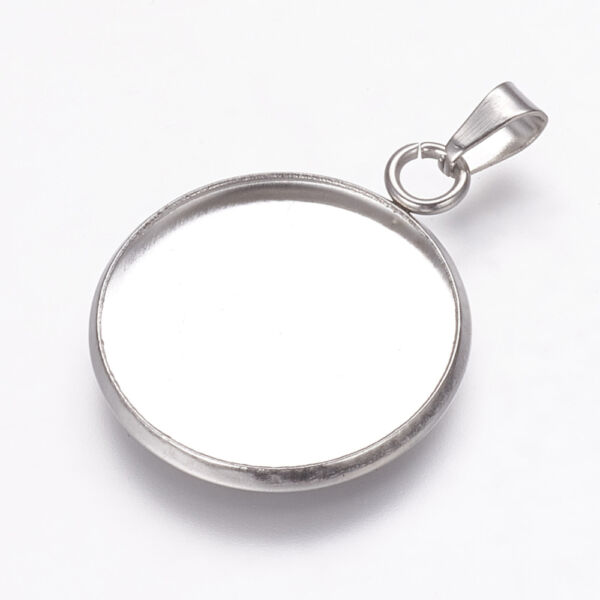 Nemesacél medáltartós medálalap (20mm)