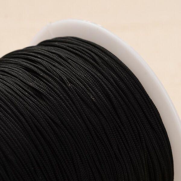 Fekete színű microcord zsinór (1mm)