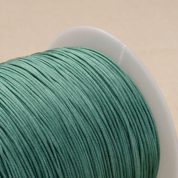 Türkizzöld színű microcord zsinór (1mm)
