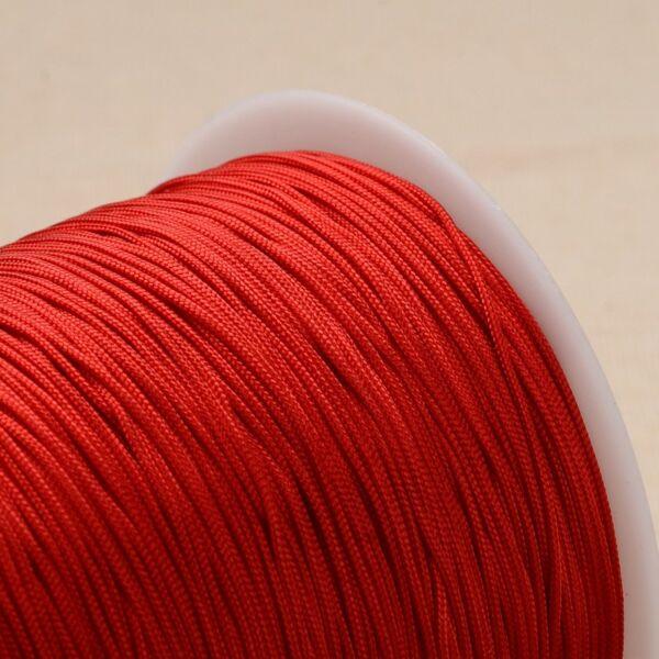 Piros színű microcord zsinór (1mm)