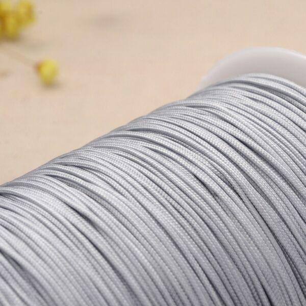 Világos szürke színű microcord zsinór (1mm)
