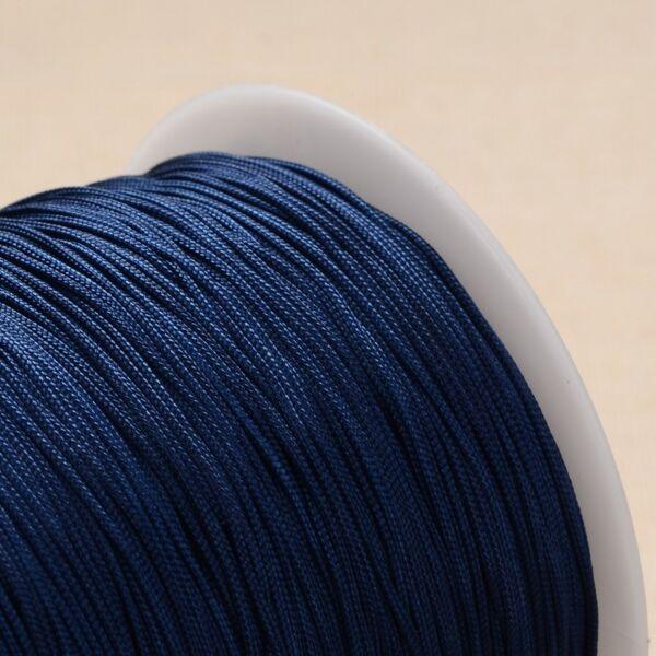 Sötét kék színű microcord zsinór (1mm)
