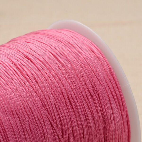 Pink színű microcord zsinór (1mm)