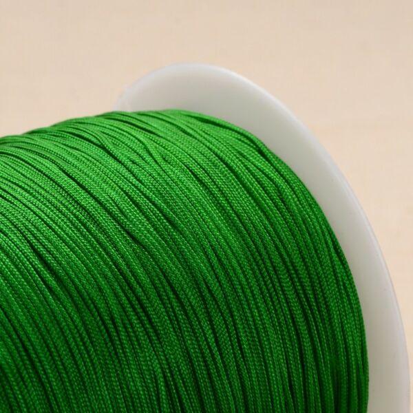 Zöld színű microcord zsinór (1mm)