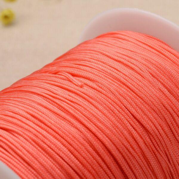 Narancs színű microcord zsinór (1mm)