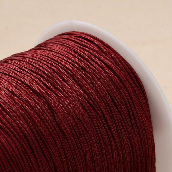 Bordó színű microcord zsinór (1mm)