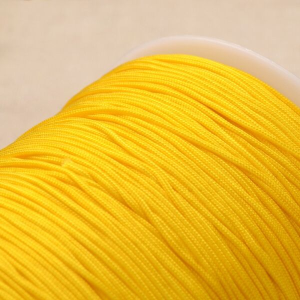 Sárga színű microcord zsinór (1mm)