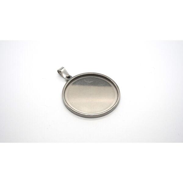 Nemesacél medálalap medáltartóval (30mm)