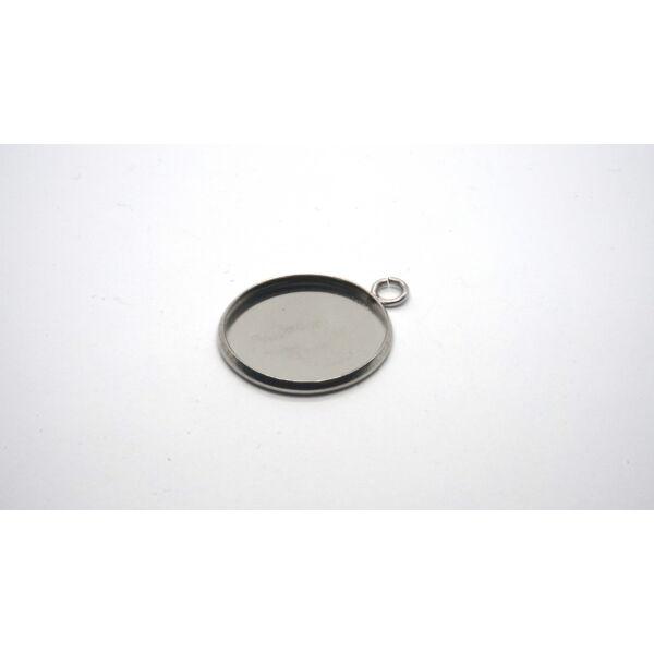Nemesacél medálalap (16mm)