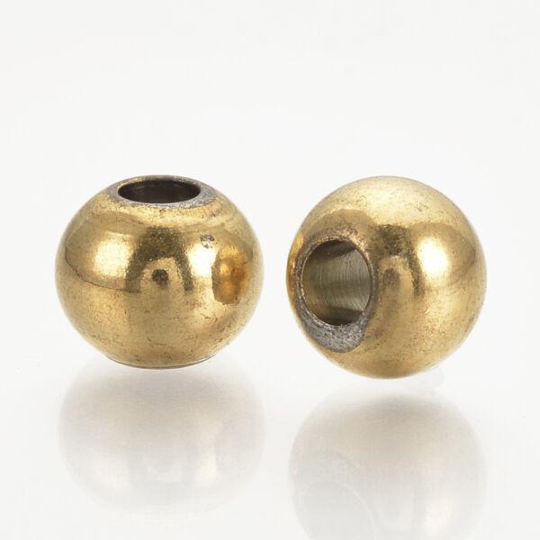 1db Arany színű nemesacél golyó alakú köztes (8x7mm)