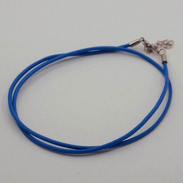 Sötét kék bőr nyaklánc alap